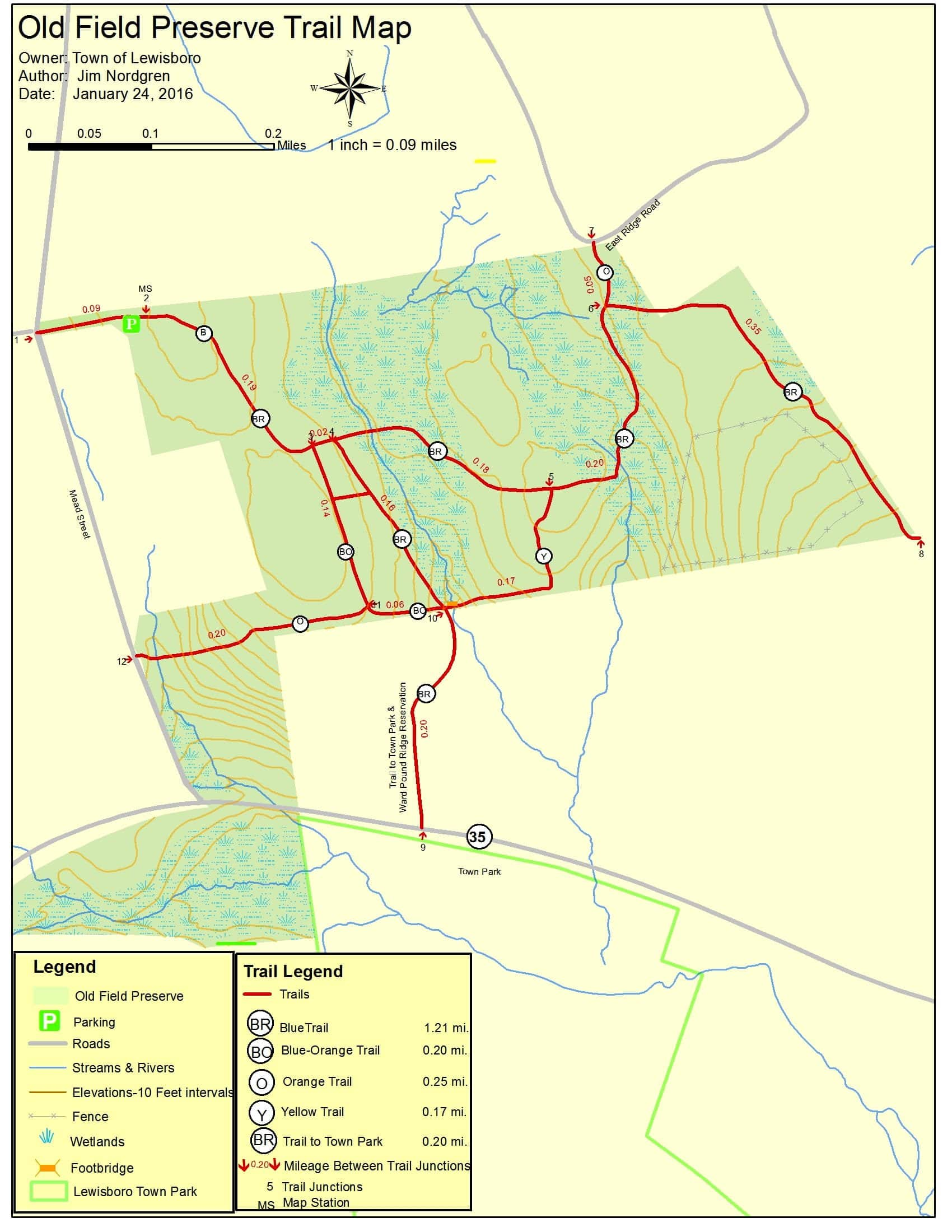 Old Field Preserve Trail Map